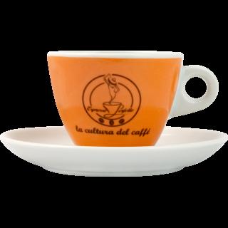 Espresso Perfetto Cappuccino beker, oranje